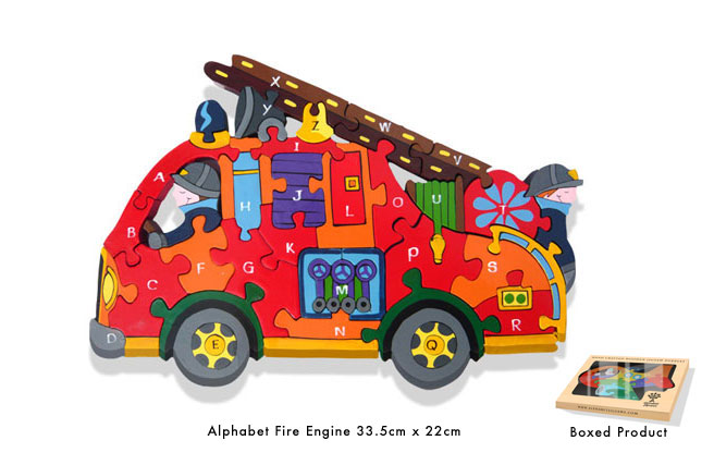 Alphabet Fire Engine Jigsaw