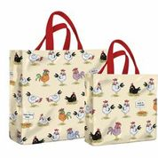 Chickens PVC Medium & Mini Gusset Bags