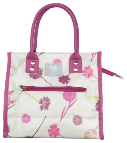 Cornflower Plum PVC City Bag