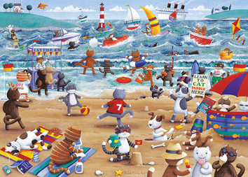 Gibsons Cats on Holiday 500 piece Jigsaw Puzzle