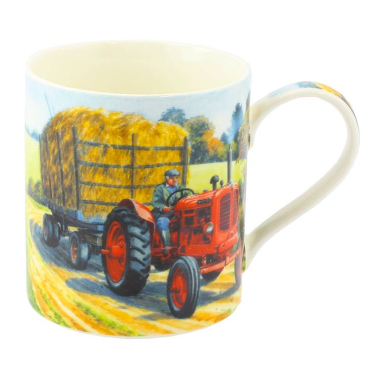 Nuffied Tractor and Hay Trailer Mug
