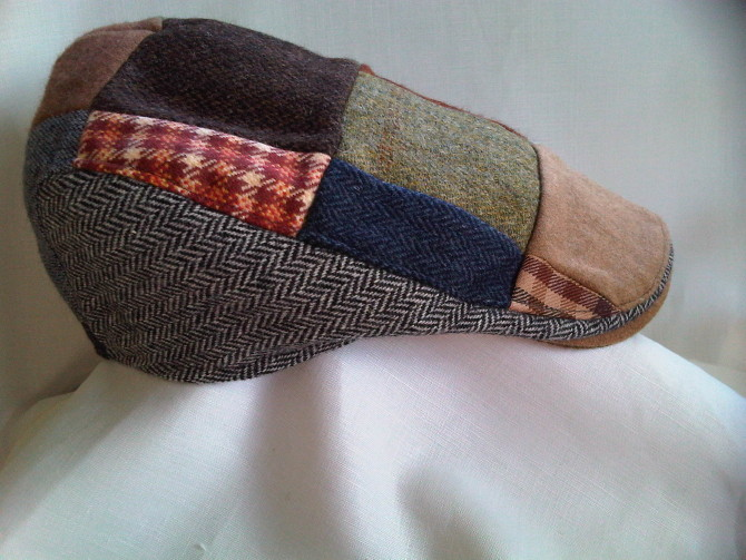 The Patchwork Tweed Donegal Touring Cap