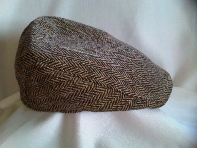 The Plain Tweed Donegal Touring Cap