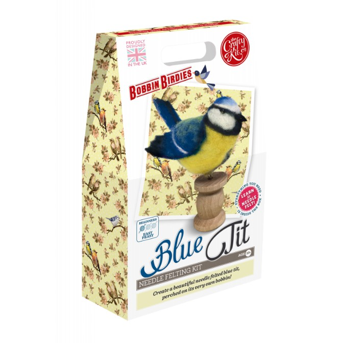 Bobbin Birdies Blue Tit Needle Felting Kit