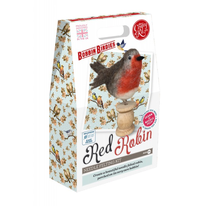 Bobbin Birdies Red Robin Needle Felting Kit