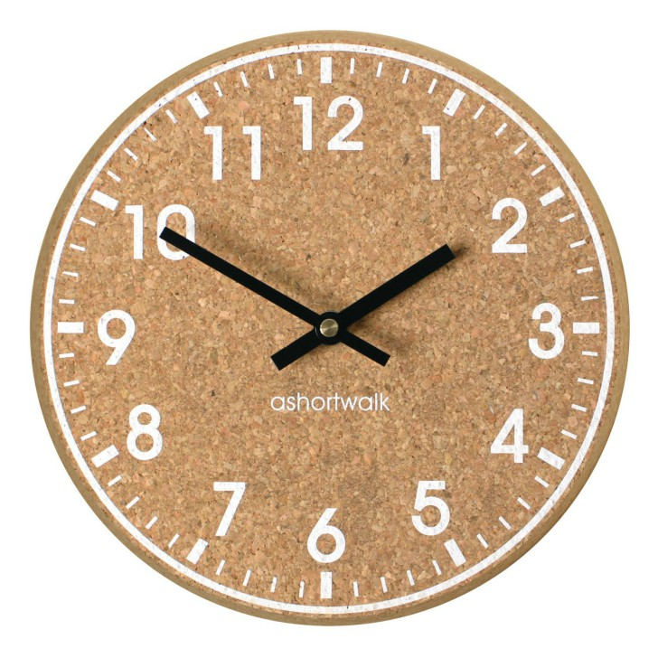 Chunky Cork Time Wall Clock