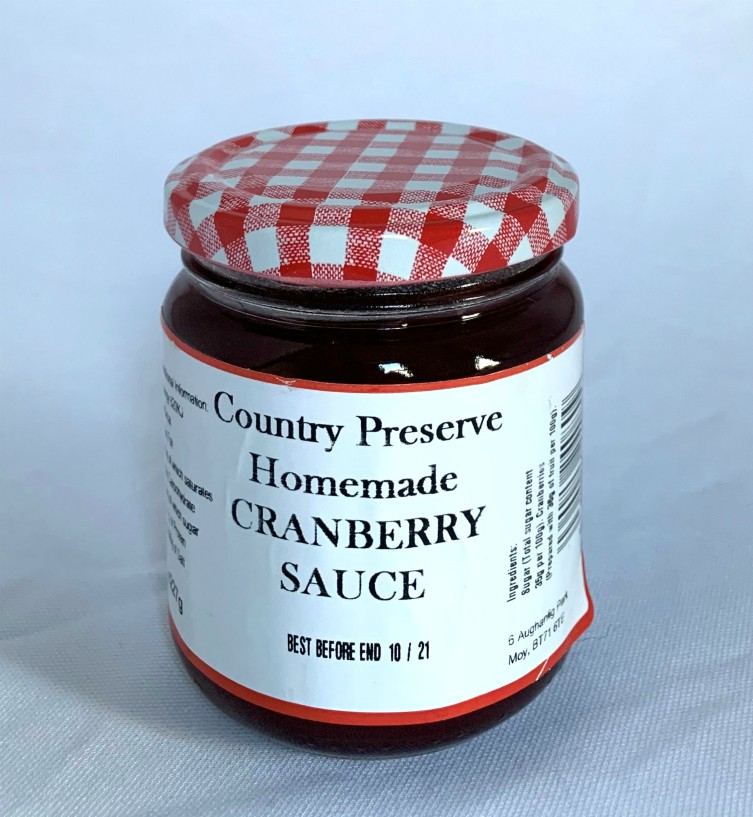 Country Preserve Homemade Cranberry Sauce 227g