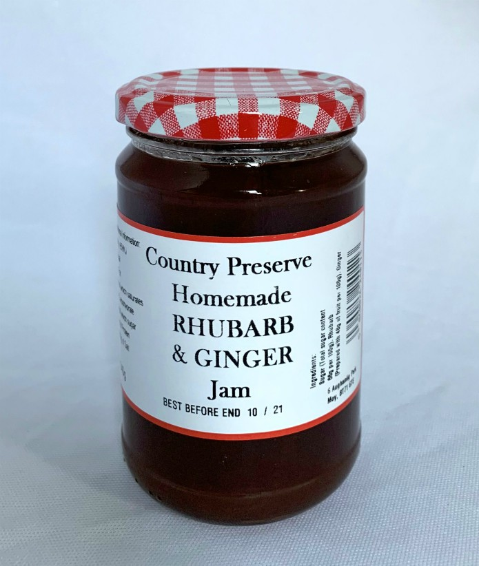 Country Preserve Homemade Rhubarb and Ginger Jam 340g