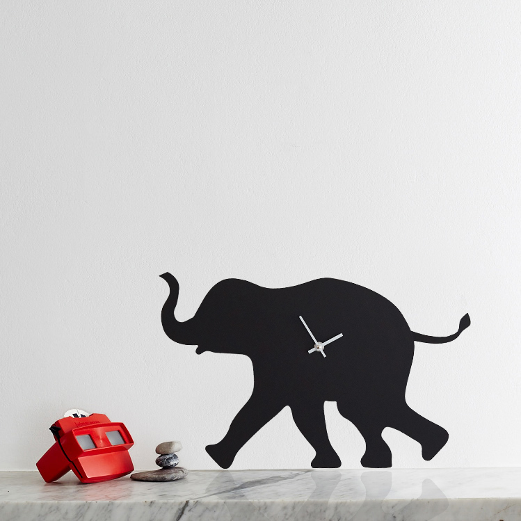 Elephant Battery Operated Wall Clock