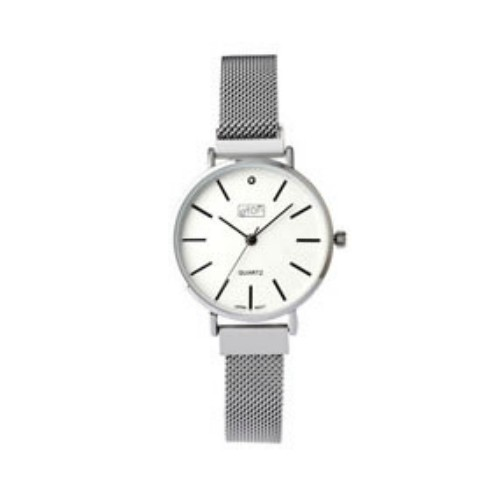 Eton Ladies Mesh Bracelet Chrome Finish Wrist Watch