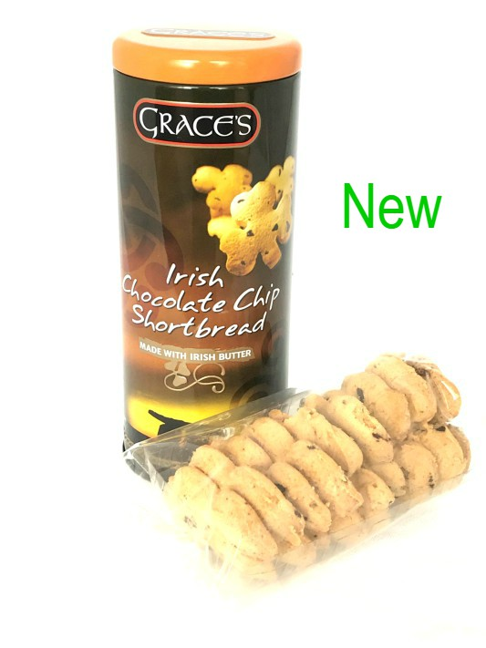 Grace's Irish Chocolate Chip Shortbread in a Round Tin 135g