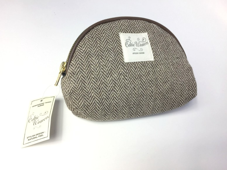 Herringbone Tweed Purse by Celtic Weavers