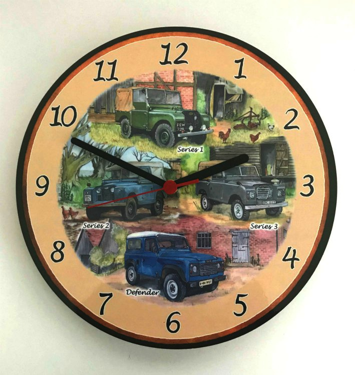 Landrovers Battery Wall Clock