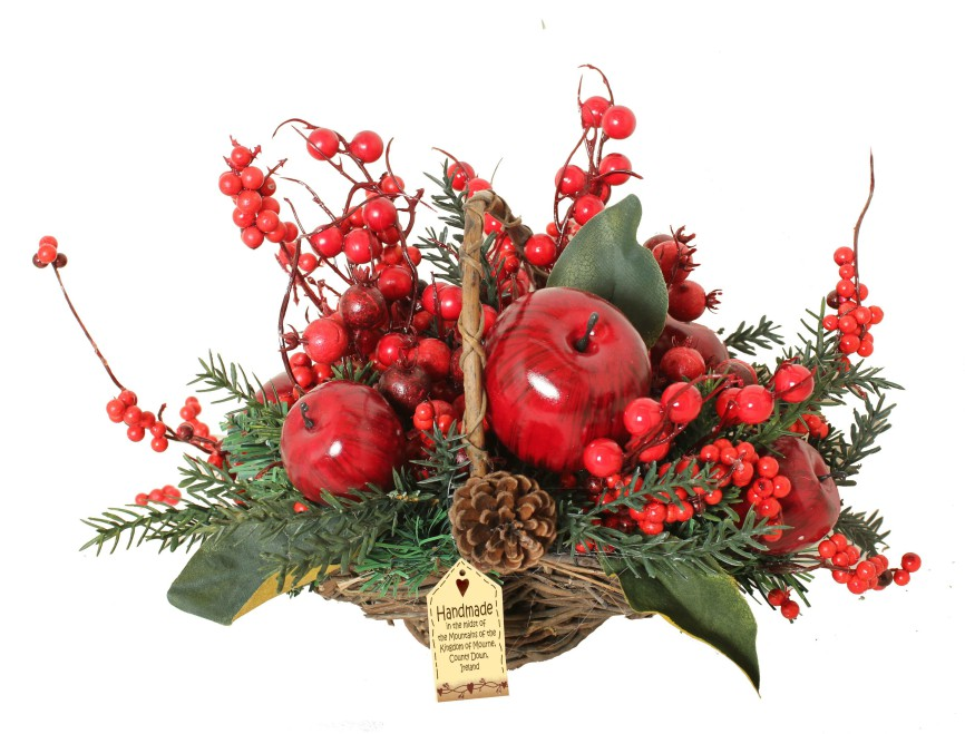Luxury Apple Small Floral Basket