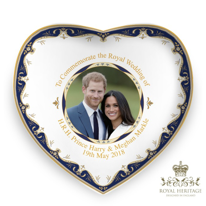 Prince Harry and Meghan Markle China Heart Dish