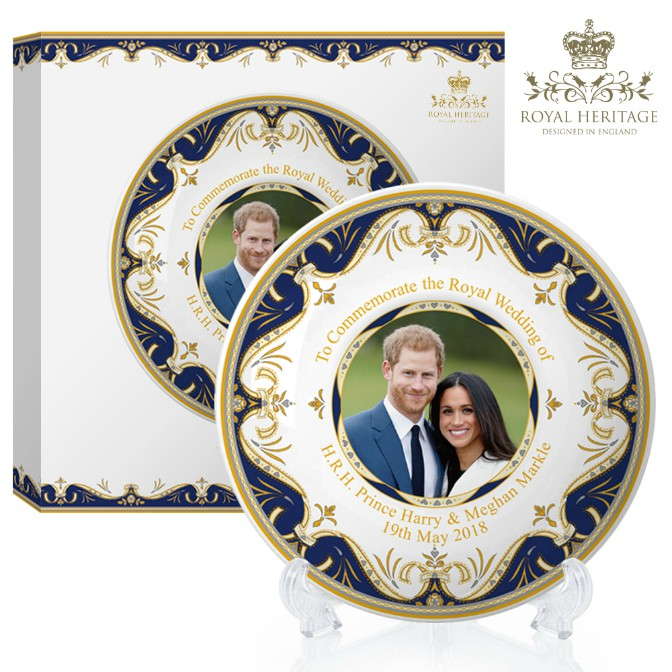 Prince Harry and Meghan Markle China Large Plate