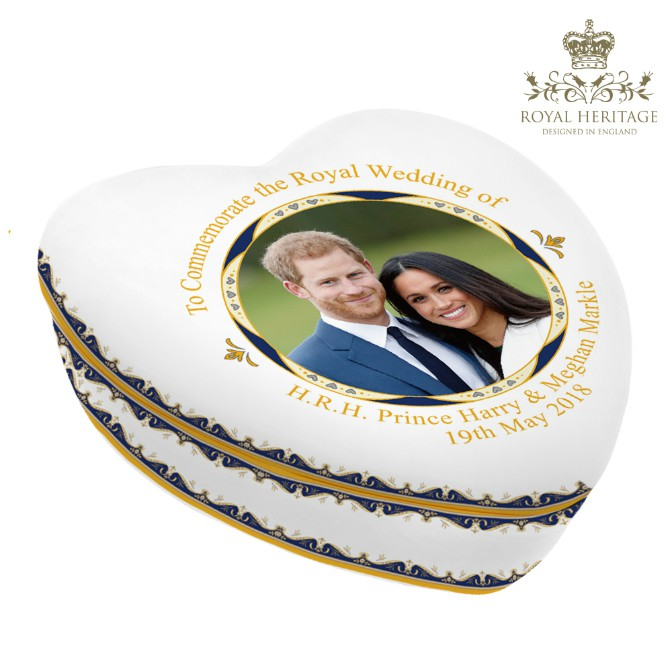 Prince Harry and Meghan Markle China Trinket Box