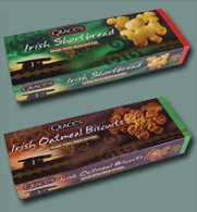 Graces Irish Shamrock Shaped Shortbread & Oatmeal Biscuits